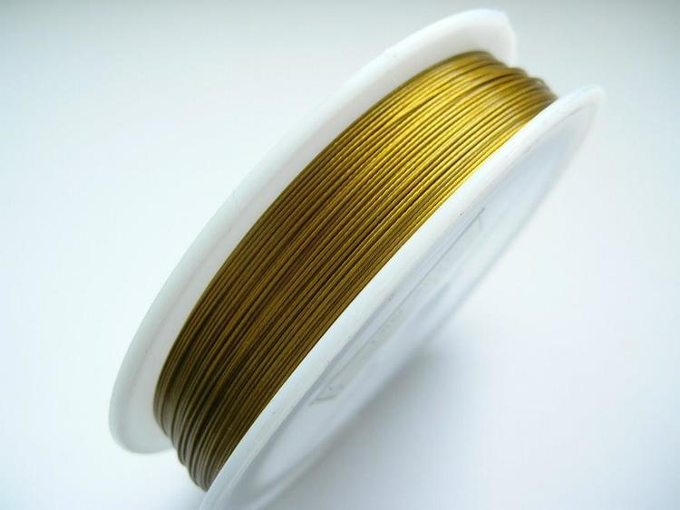 Plastad - Wire - 0,45mm - Mässing - 2m