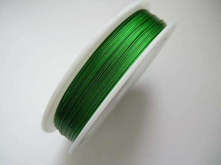 Plastad - Wire - 0,45mm - Emeraldgrön - 2m