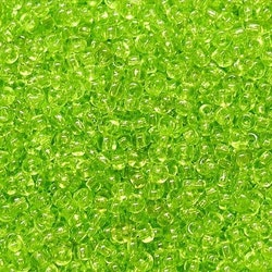 Glaspärlor - Seedbeads - Lime grön
