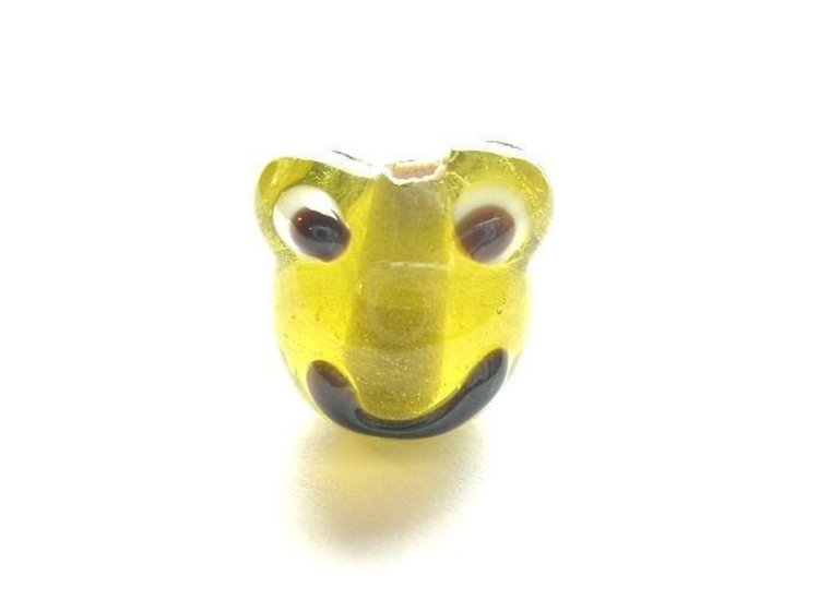 Lampwork - Glas Groda - Gul - 10st