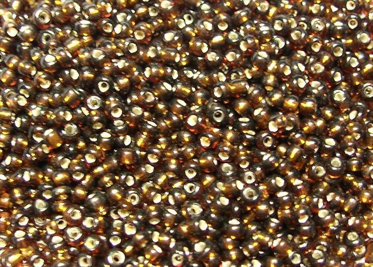Glaspärlor - Seedbeads - Koppar brun
