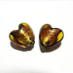 Silverfoil - Hjärta - Brun koppar - 10st