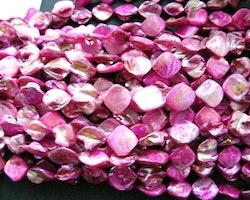 Snäckskalspärlor - Romb - Rosa - 4st