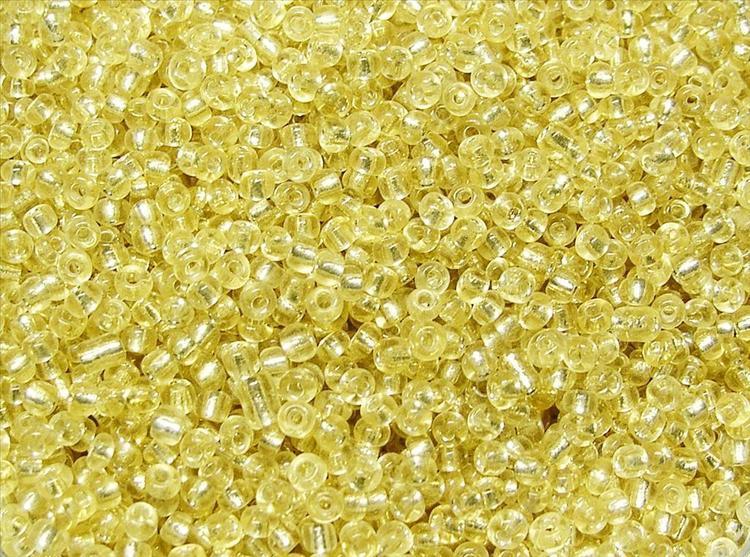 Glaspärlor - Seedbeads - Ljus Guld silverlined