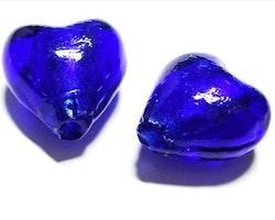Silverfoil - Hjärta - Blå - 10st