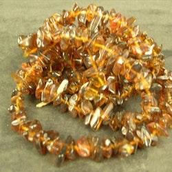 Glaspärlor - Glaschips - Koppar brun - 1sträng