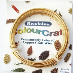 Colour Craft - Koppartråd - Guld - 16gauge