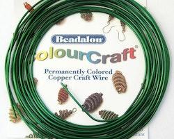 Colour Craft - Koppartråd - Grön - 16gauge