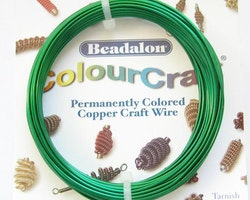 Colour Craft - Koppartråd - Grön - 18gauge