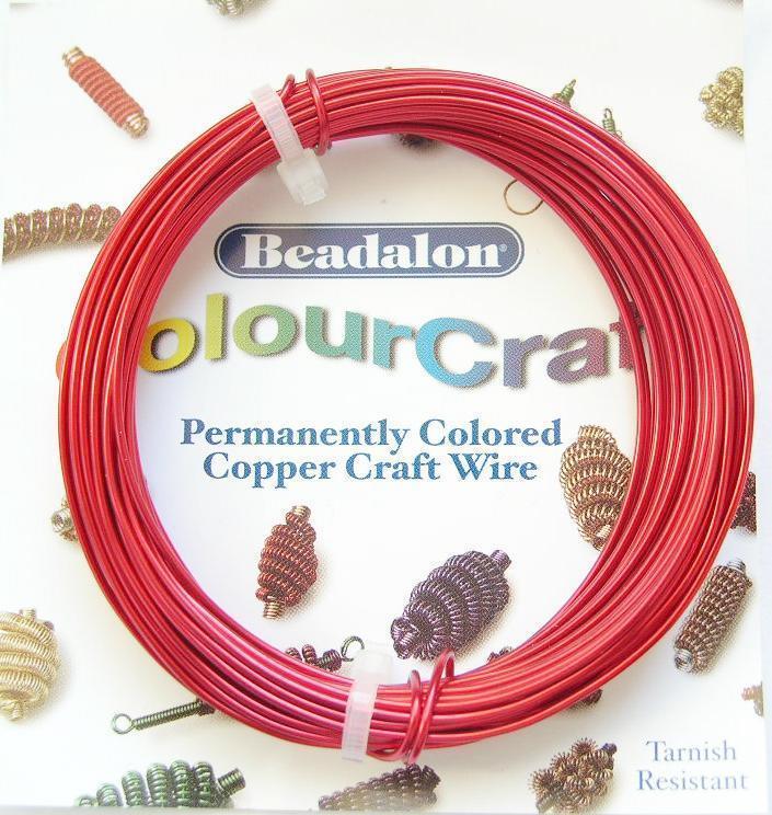 Colour Craft - Koppartråd - Röd - 18gauge