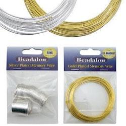 Beadalon - Memory Wire - Guld - 18varv