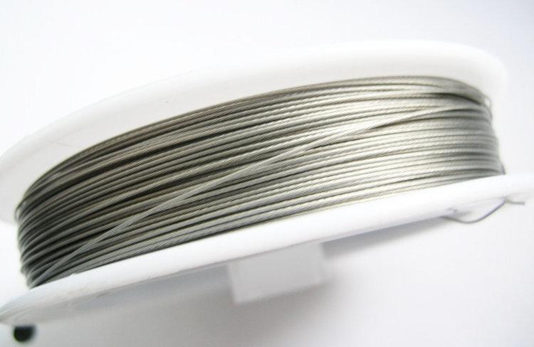 Plastad - Wire - 0,45mm - Silver stålgrå - 100m