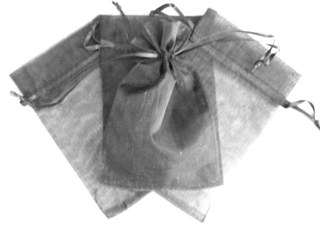 Organzapåse - Mellan - Svart - 15*10cm - 10st