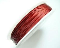 Plastad - Wire - 0,38mm - Fire red - 100m