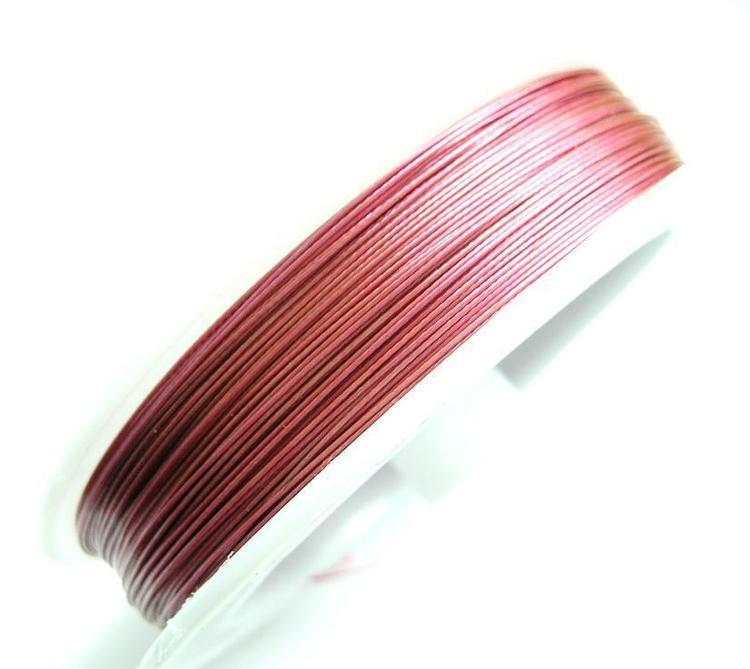 Plastad - Wire - 0,45mm - Vintage Rose - 100m