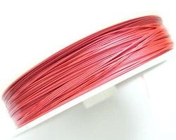 Plastad - Wire - 0,45mm - Light Red - 100m