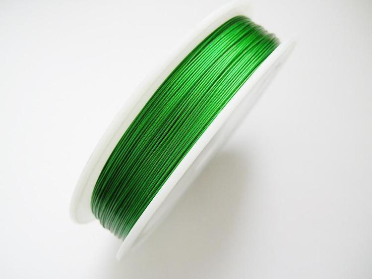 Plastad - Wire - 0,38mm - Emerald - 100m