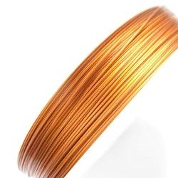 Plastad - Wire - 0,38mm - Light Copper - 100m