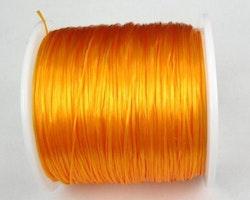 Elastisk tråd - Flat - Guldigt orange - 1st rulle 70m