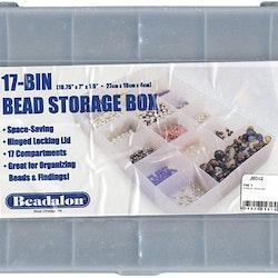 Beadalon - Förvaringsbox - Transparent - 17fack - 18 x 27cm
