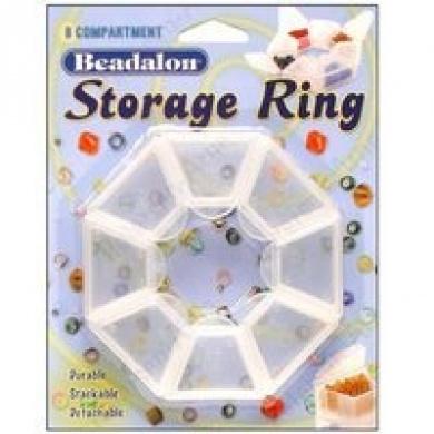 Beadalon - Förvaringsring - Transparent - 8fack - 25x10mm