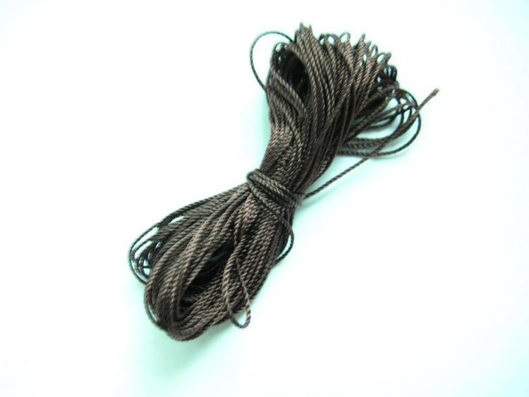 Pärltråd nylon - Brun - 10m