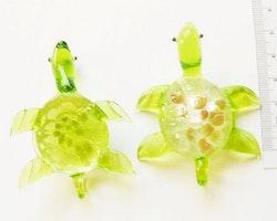 Lampwork - Hänge - Handblåst - Sköldpadda - Grön - 1st