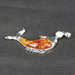 Cabochon - Hänge - Fisk - Ljus orange - 1st - 20*30mm