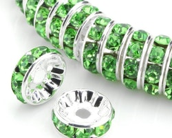 Rhinestone - Spacer - Pärlor - Grön - 10st