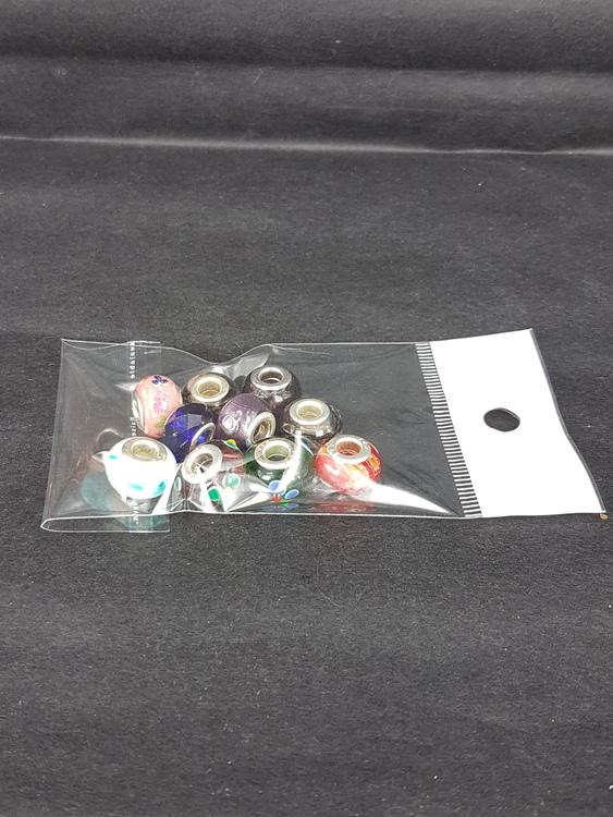 Lampwork - Ormlänkspärlor - Blandade pärlor med mönster - 10st
