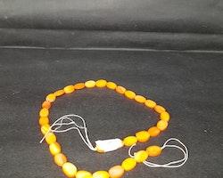Snäckskalspärlor - Oblong - Ovala - Infärgade - Orange