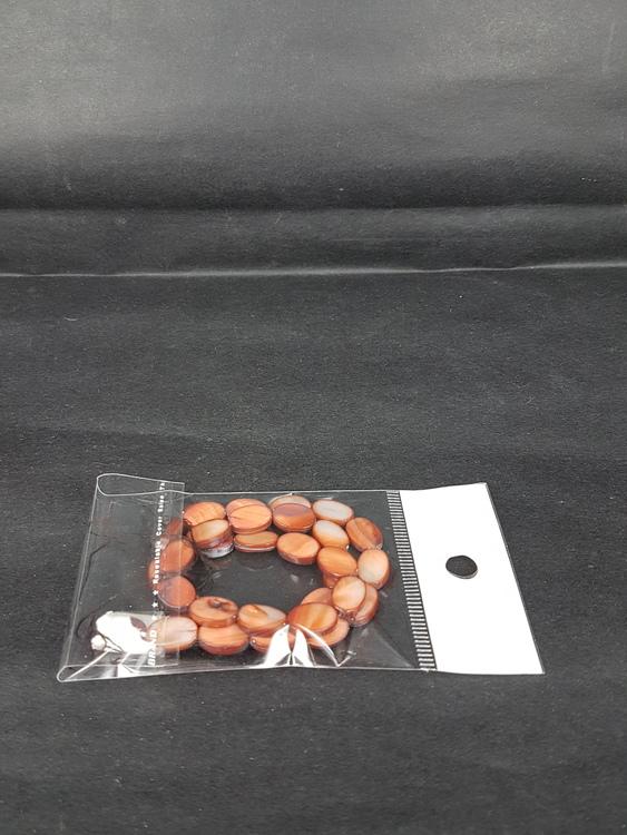 Snäckskalspärlor - Oblong - Ovala - Infärgade - Brun