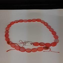 Snäckskalspärlor - Oblong - Ovala - Infärgade - Tropical rosa
