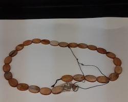 Snäckskalspärlor - Oblong - Ovala - Infärgade - Walnut