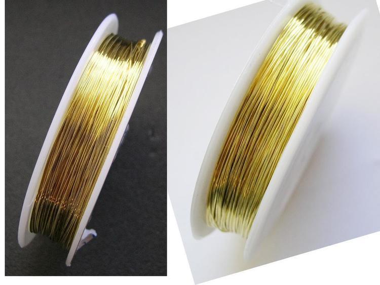 Koppartråd - 0,4mm - Guld - 1rulle ca 25m