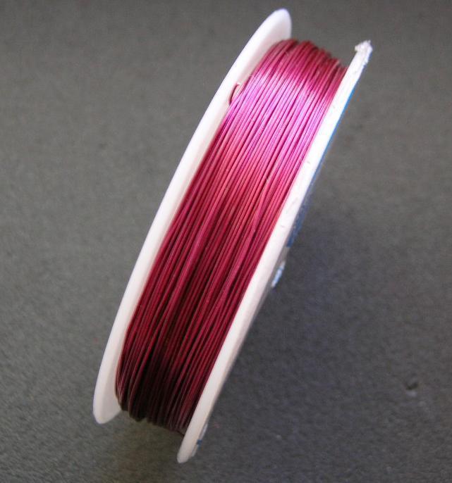 Koppartråd - 0,4mm - Rosa - 1rulle ca 25m