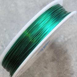 Koppartråd - 0,4mm - Grön - 1rulle ca 25m