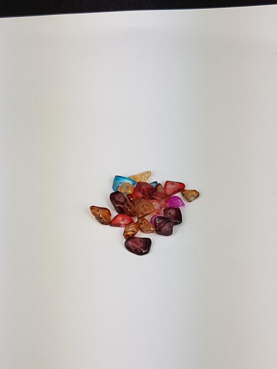 Glaspärlor - Glaschips - Chipsmix - Ca100st