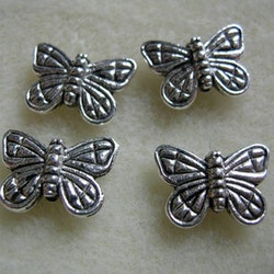 Tibetsilver - Fjärilar stora - 4st