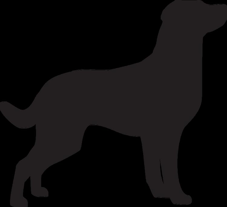 Hundsiluetter G-M Klädtryck från