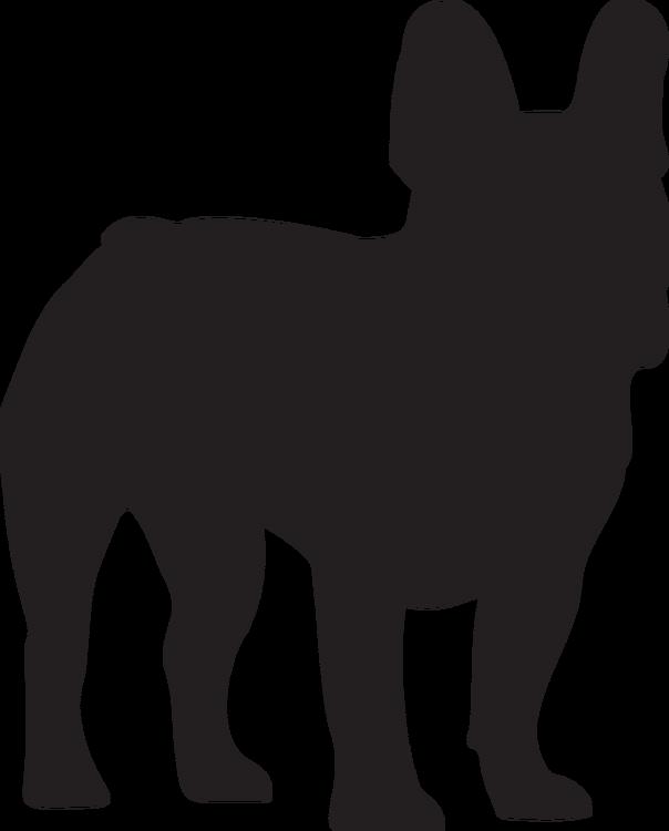 Hundsiluetter C-F Klädtryck från