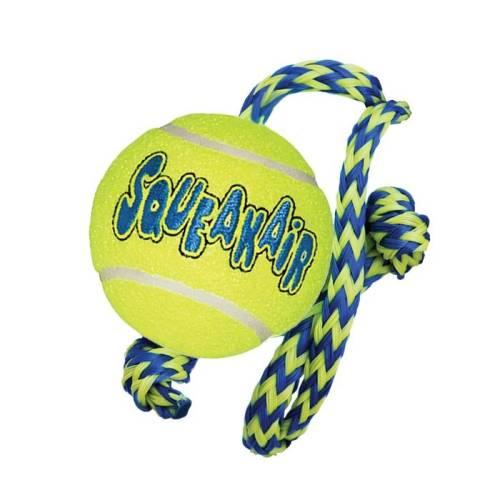 Kong Squeakair tennisboll med rep f
