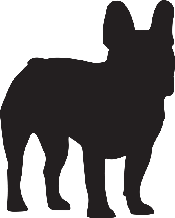 Hundsiluetter C-F, Självhäftande från