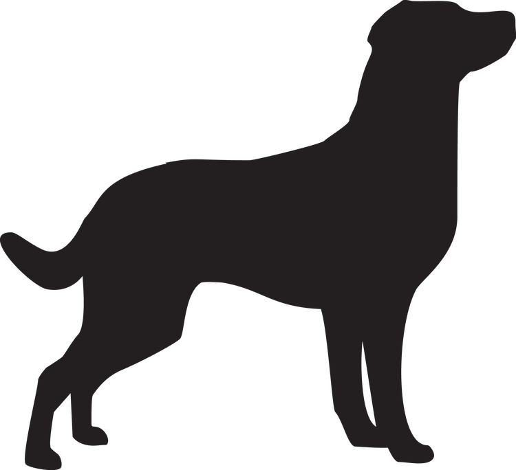 Hundsiluetter G-M Självhäftande från