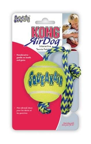 Kong Squeakair tennisboll med rep