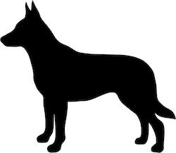 Hundsiluetter A-B Klädtryck från