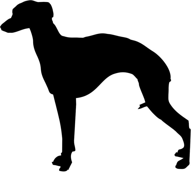 Hundsiluetter T-W Klädtryck från