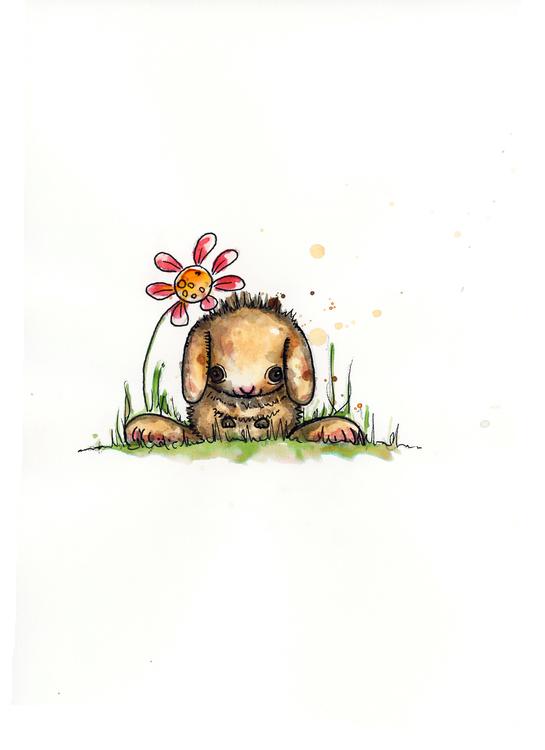 Print - Kaninen Louie