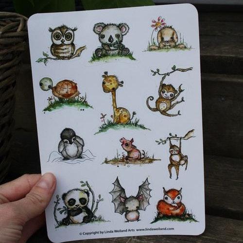 Klistermärken - Baby Animals