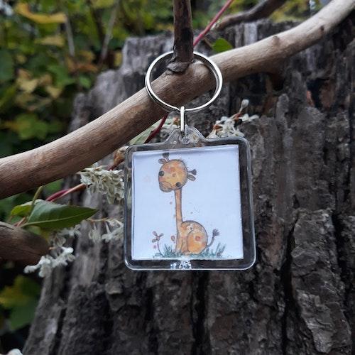 Nyckelring - Giraffen Jo
